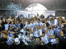 Die Spieler vom Racing Club feierten den Meistertitel.