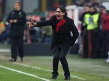 Filippo Inzaghi kommt mit dem AC Milan nicht aus der Krise