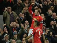 Durststrecke beendet: Rooney war zuletzt acht Spiele ohne Tor geblieben, nun traf er doppelt