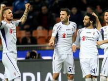 Mohamed Salah (r) erzielte den Siegtreffer für die Fiorentina