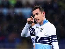 Lazio-Stürmer Miroslav Klose wird sehr gelobt
