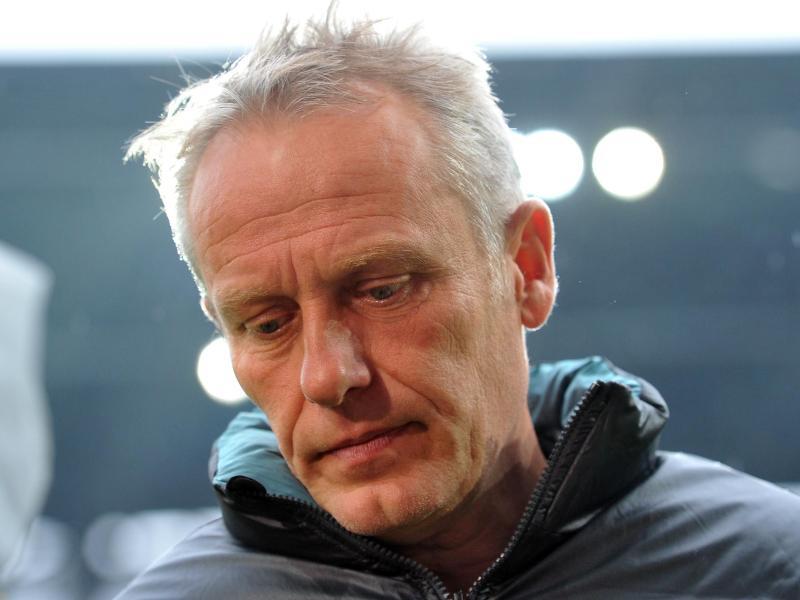 Freiburgs Trainer Christian Streich war bedient - urn-newsml-dpa-com-20090101-141026-99-01461_large_4_3