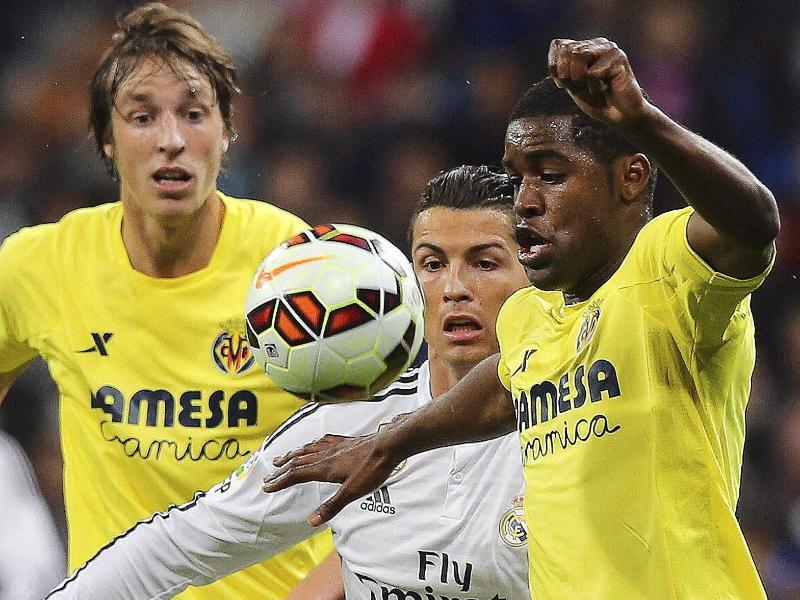 Villarreal erwies sich für Real und Cristiano Ronaldo (M) als hartnäckiger Gegner