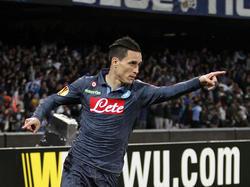 Dort geht's nach Warschau: José Callejón gelang das 1:0 für Neapel